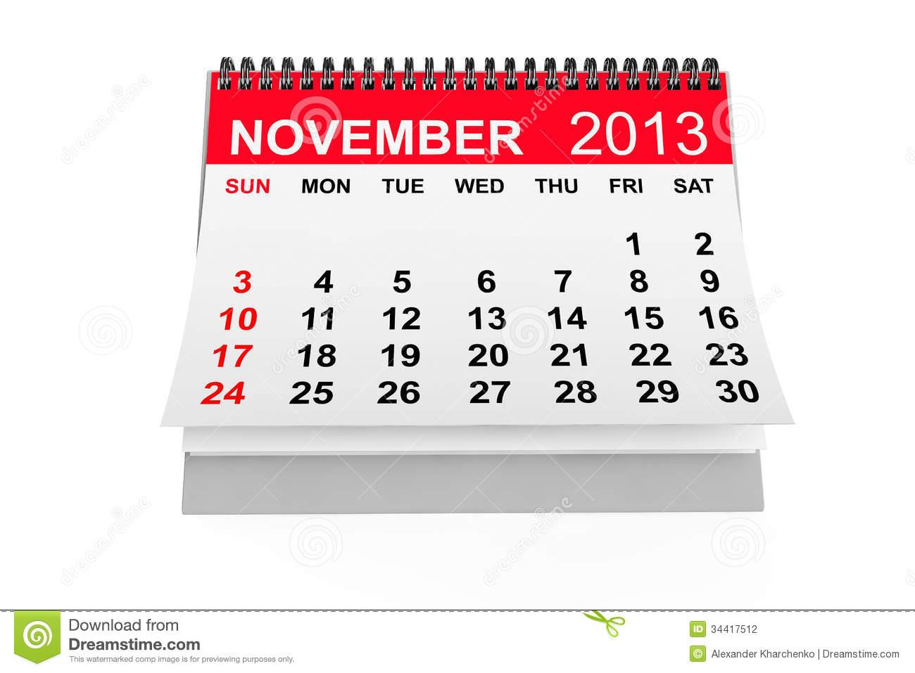 Thanksgiving Calendar Art : November calendar clipart suggest