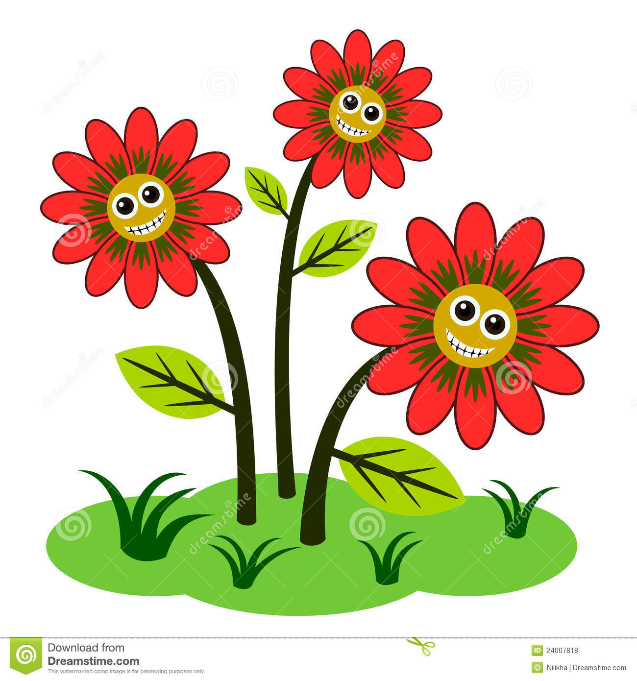 Happy Flowers Royalty Free Stock Photos   Image  24007818