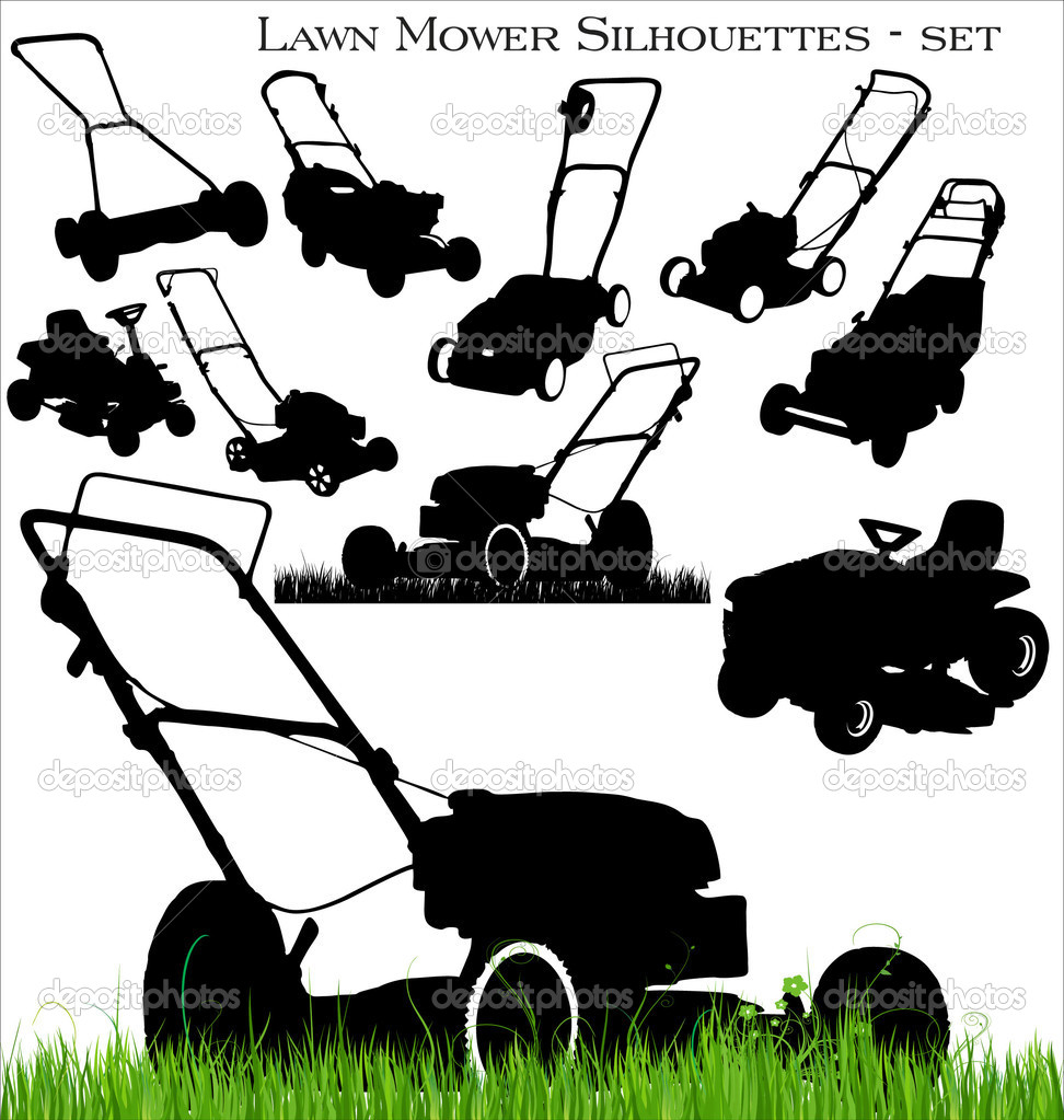 lawn mower vector - photo #39