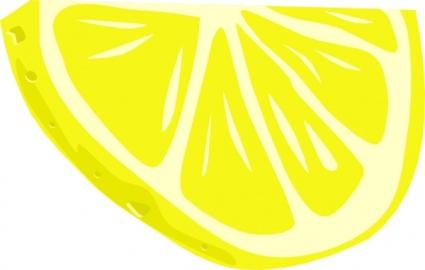 Lemon  Half Slice  Clip Art Vector Free Vectors   Vector Me