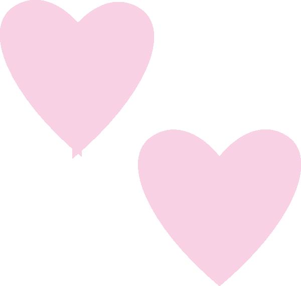 Light Pink Heart Clipart - Clipart Suggest