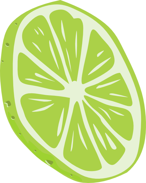 Lime  Slice  Clip Art At Clker Com   Vector Clip Art Online Royalty