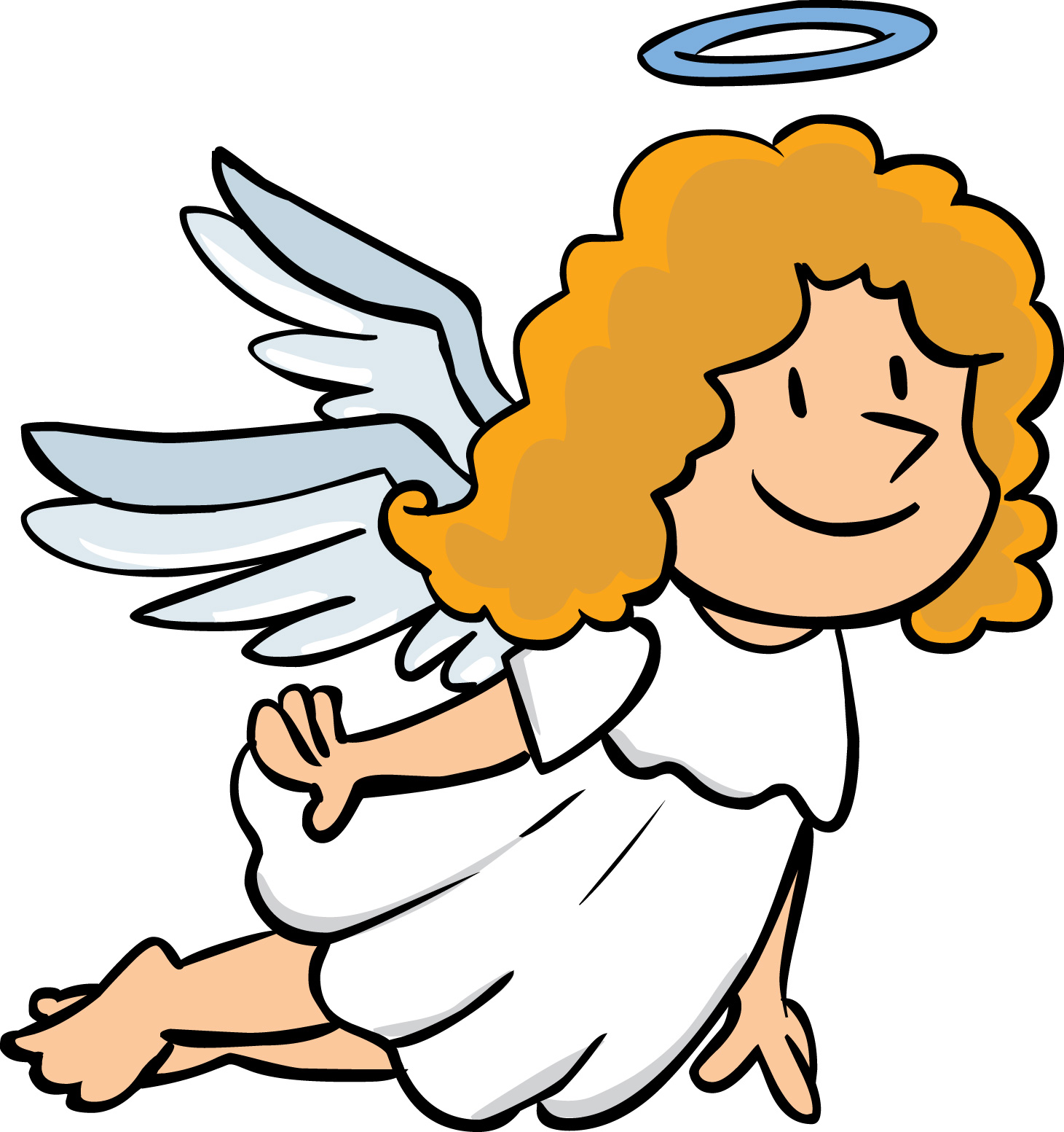 Flying Angel Cartoon Clipart - Clipart Kid