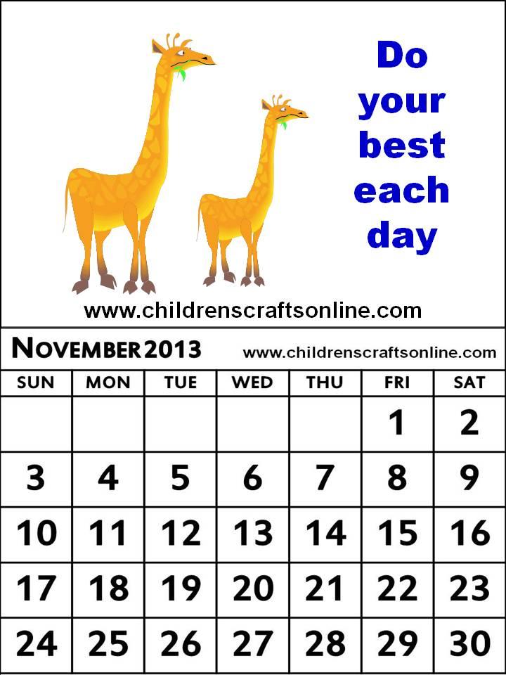 November Calendar Kids : November calendar clipart suggest