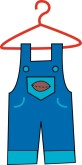 Overalls Clipart Baby Clothes Clipart Dress On Hanger Clipart Pink