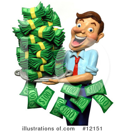 Royalty Free  Rf  Finance Clipart Illustration  12151 By Amy Vangsgard