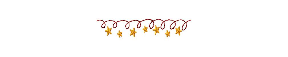 Single Designs    Borders Frames   Swags    Christmas Star Line 2