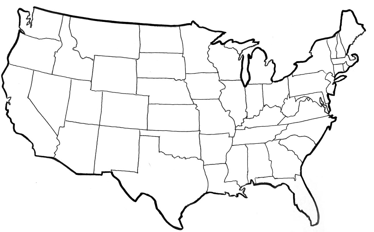 Us Maps United States Outline | Map Of The Us