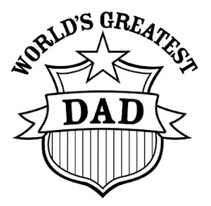Black And White World S Greatest Dad Patch