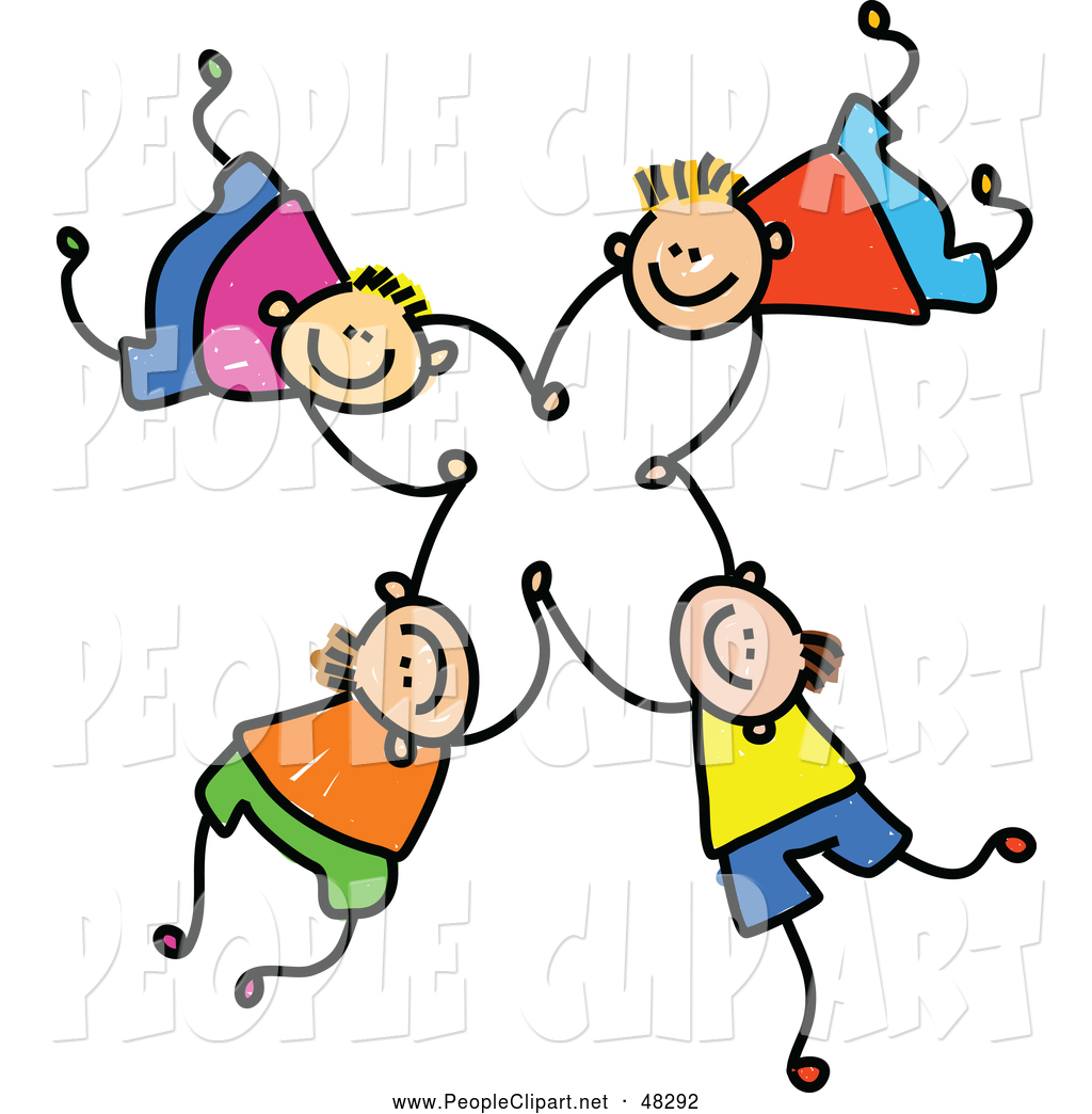 Clip Art Of Stick Boys Falling And Holding Hands By Prawny    48292