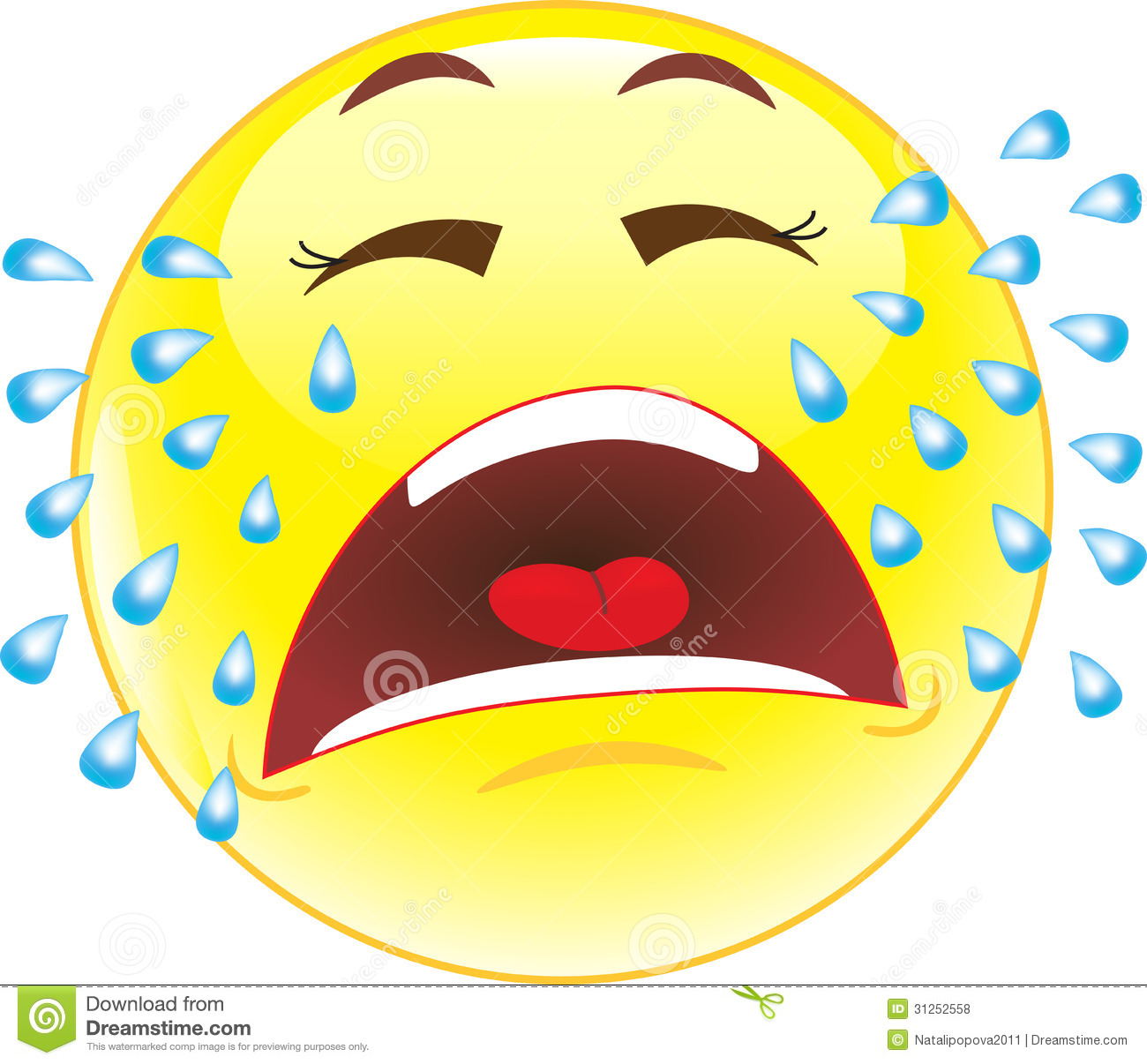 Crying Smiley-face Clipart - Clipart Suggest