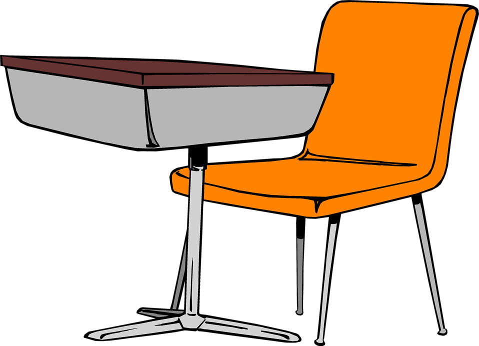 Desk   Free Stock Photo   Illustration Of A Student Desk And Chair