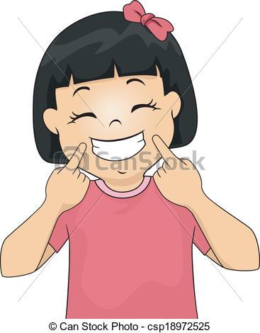 Smiling Girl Clip Art