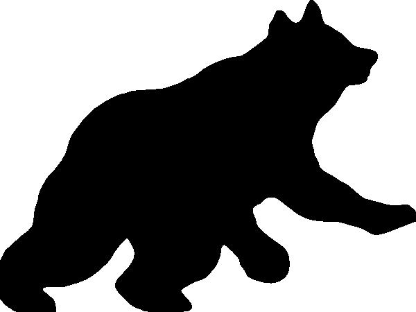 Bear Cub Silhouette Clipart - Clipart Suggest