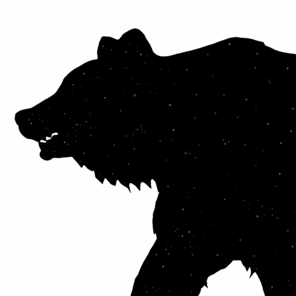 Grizzly Bear Silhouette Clipart - Clipart Suggest