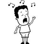 Singing Black And White Clipart - Clipart Suggest