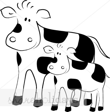 Clip Art Cows - Synkee