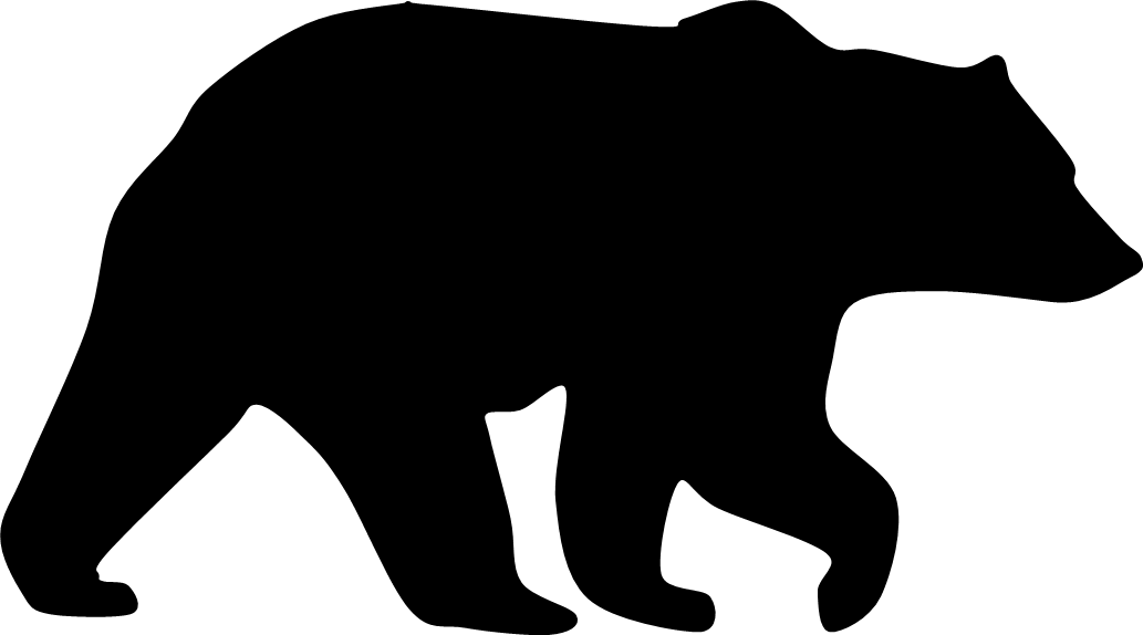 Grizzly Bear Silhouette Clipart - Clipart Kid