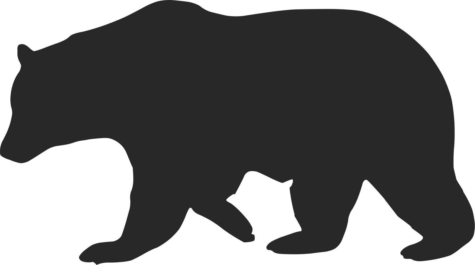 Outline Of Black Bear Photos   Good Pix Gallery