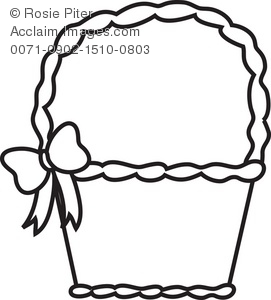 Basket Black And White Clipart - Clipart Kid