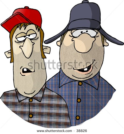 Redneck Fishing Clipart Clipart Illustration Of Two
