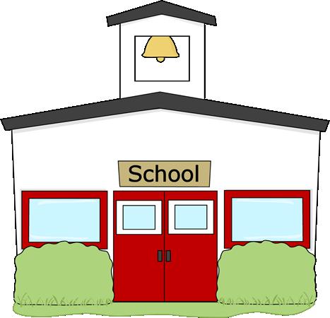 Cartoon School Building Clipart - Clipart Kid