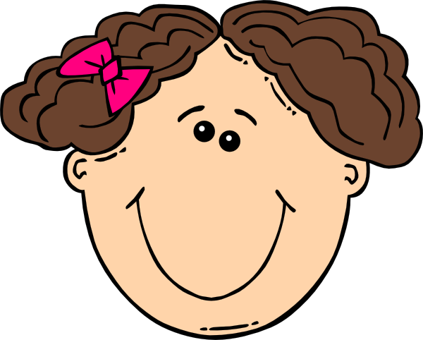 Smiling Short Brown Hair Girl Clip Art At Clker Com   Vector Clip Art