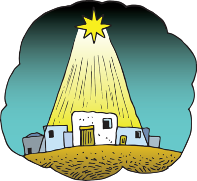 Star Of Bethlehem Clipart This Cute Little Cartoon Of The Star Of