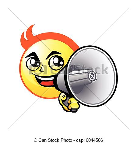 Vector Clipart Of Shout Out Smiley   Cheerful Smiley Boy Shout Out