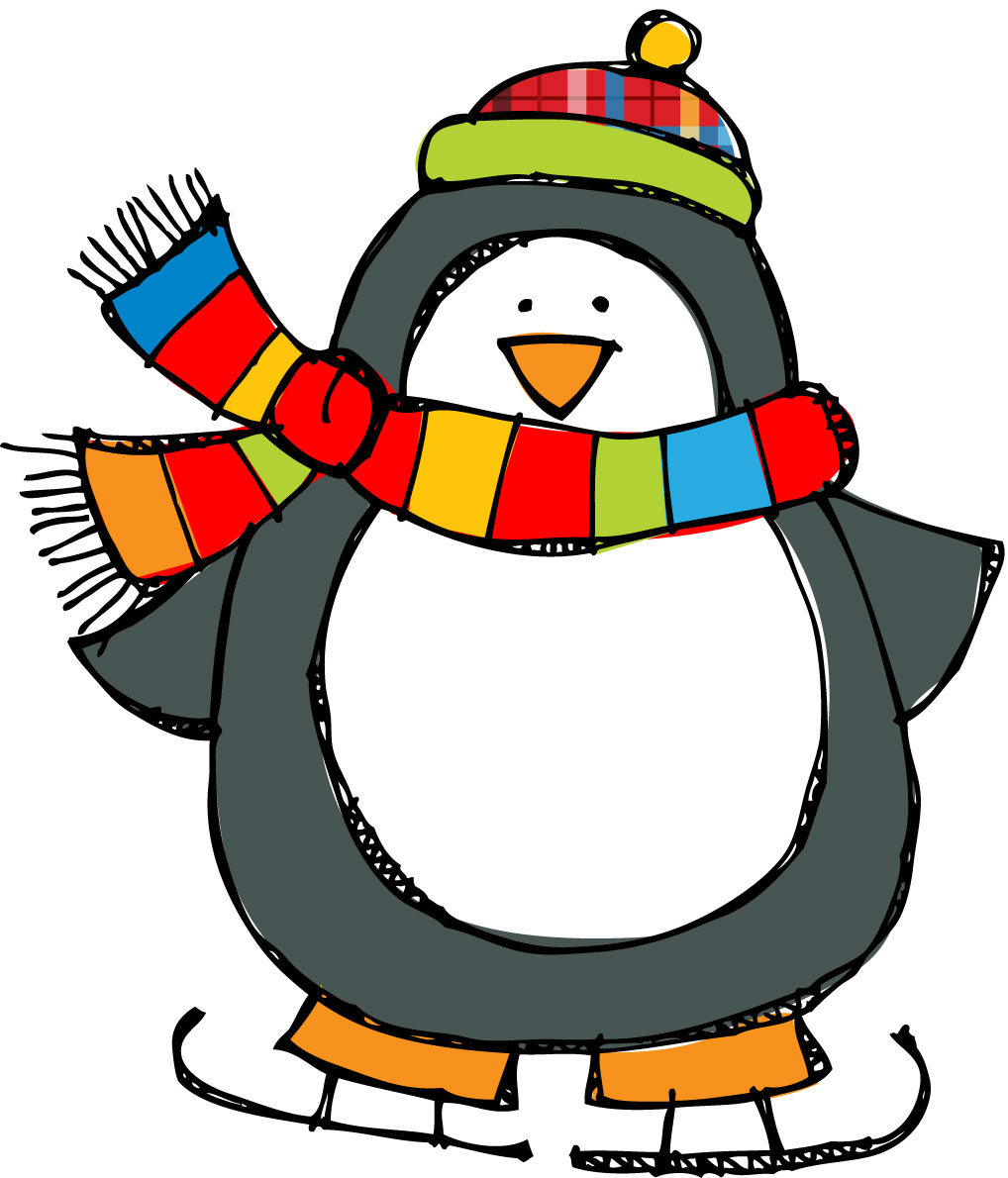 Winter Penguin Clipart   Free Large Images