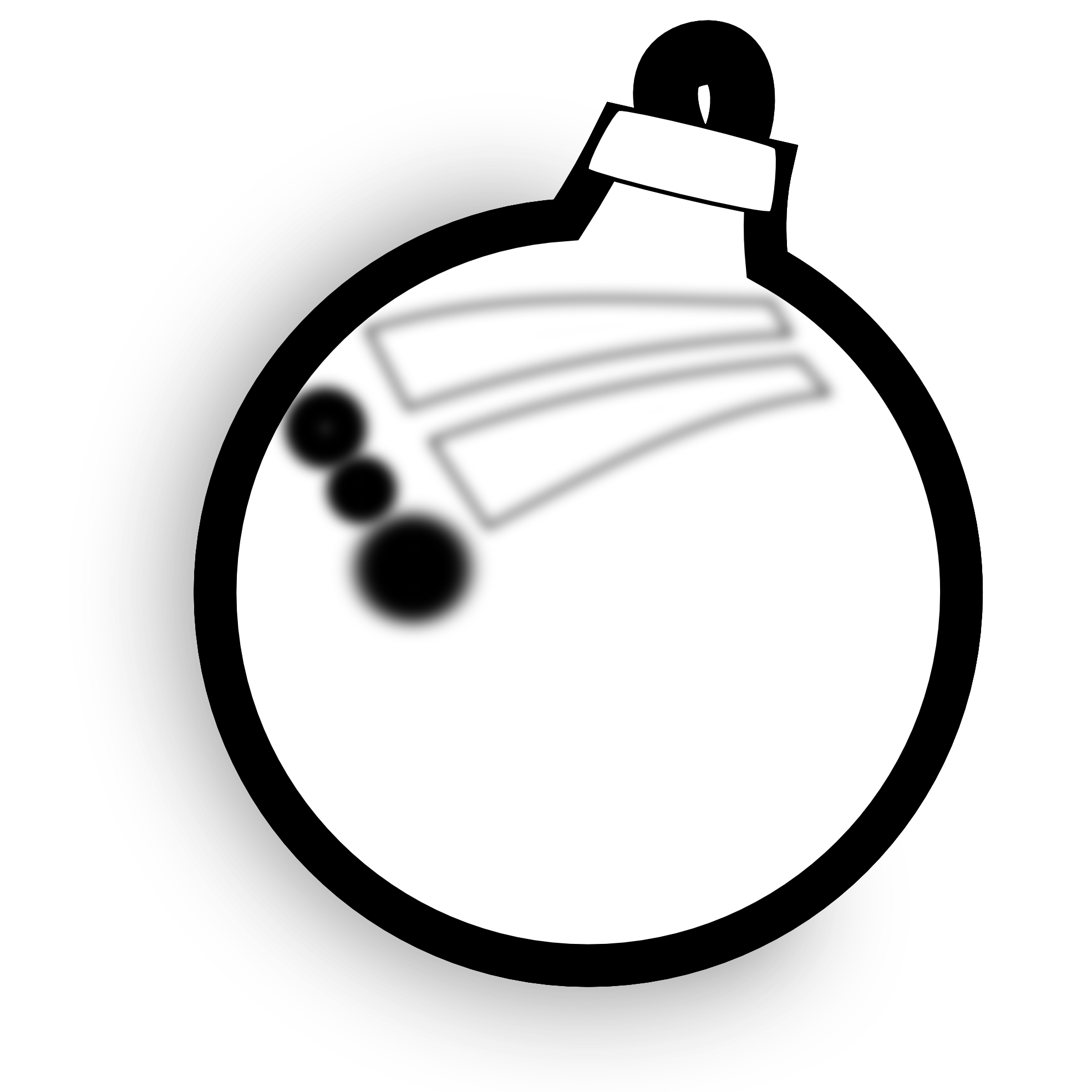 Christmas ornament outline clipart suggest