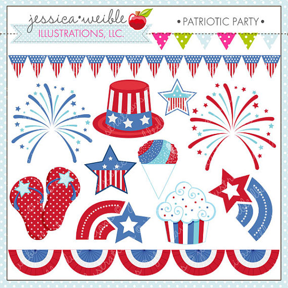 Clipart For Commercial Or Personal Use Patriotic Clipart 4th Of July
