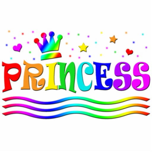Cute Cartoon Clip Art Rainbow Princess Tiara   Zazzle