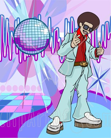 Disco Dancing Clipart - Clipart Kid