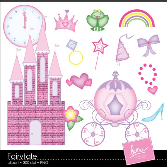 Items Similar To Fairytale Princess Clipart On Etsy
