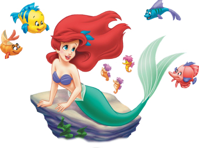 Fish little mermaid clipart clipart suggest for Little mermaid fish