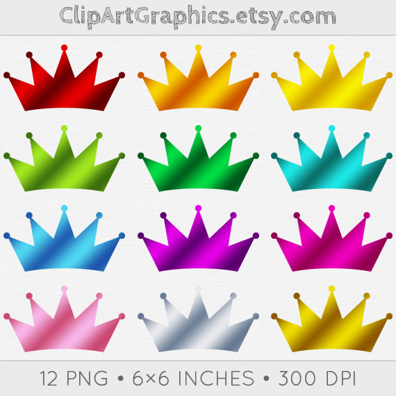 Metallic Crown Clipart Digital Foil Crown By Clipartgraphics