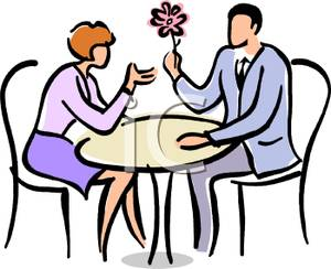 People Sitting At Table Clipart