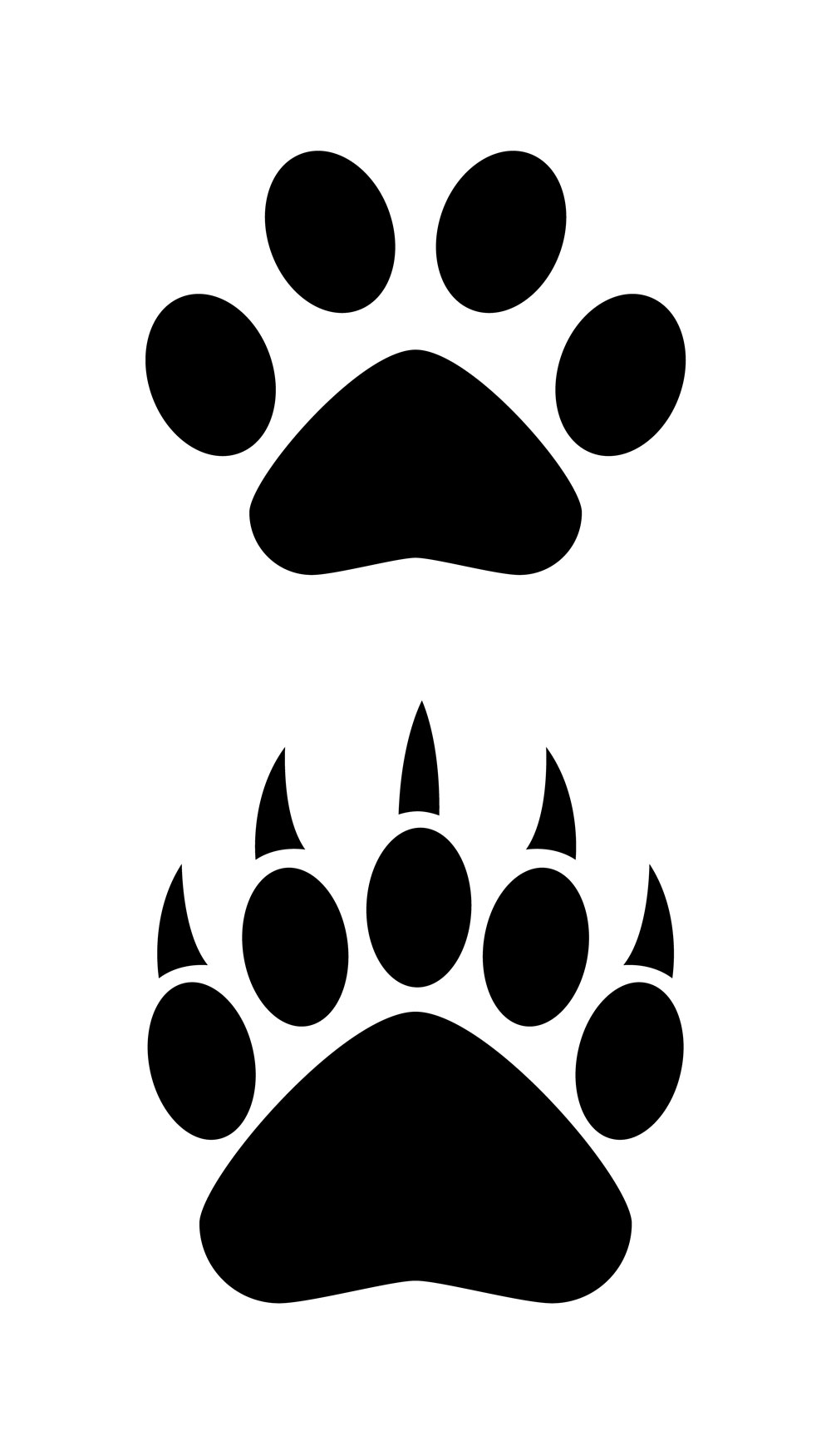 bear paw clipart clipart suggest animal print clip art free leopard print clip art free