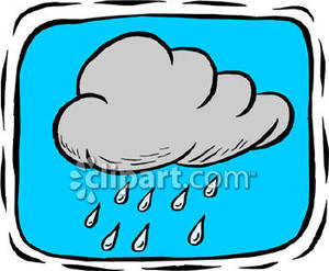 Rain Falling From A Rain Cloud   Royalty Free Clipart Picture