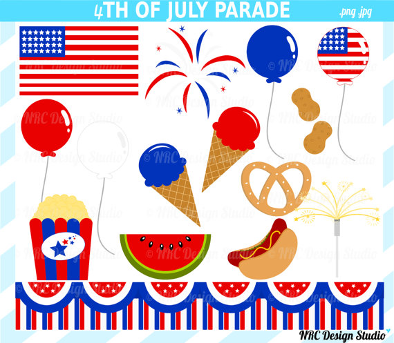 Sale   Cute 4th Of July Clip Art   4th Of July Parade Clipart