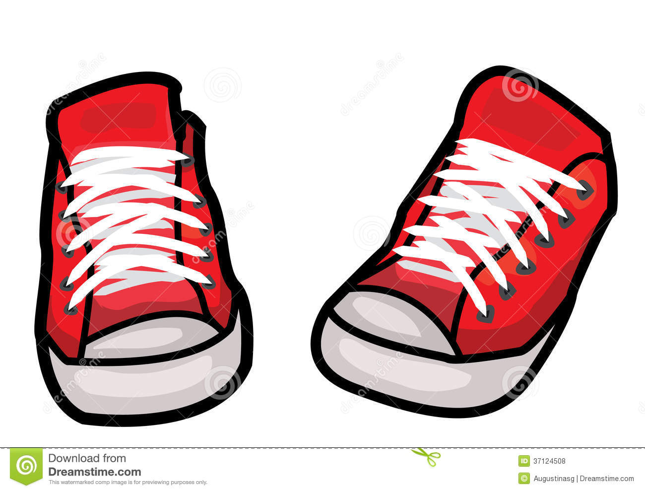 Sneakers Cartoon Red tennis shoes clipart - clipart kid