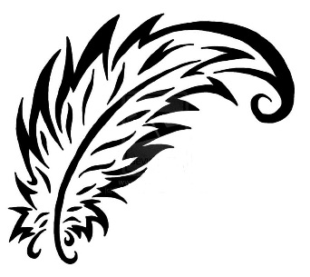 simple feather clipart clipart suggest. Black Bedroom Furniture Sets. Home Design Ideas