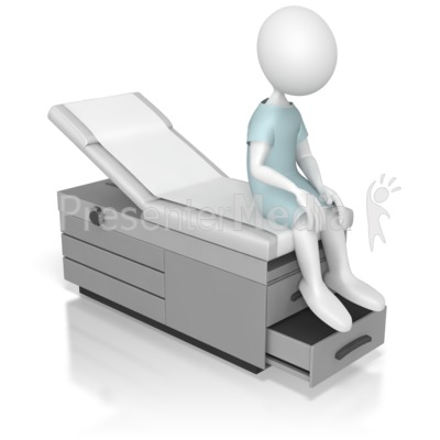 Sitting On An Examination Table   Medical And Health   Great Clipart