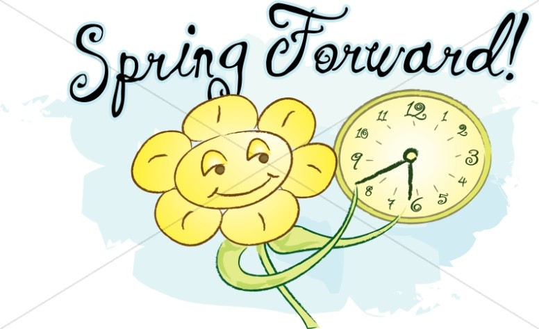 Spring Forward With Happy Flower