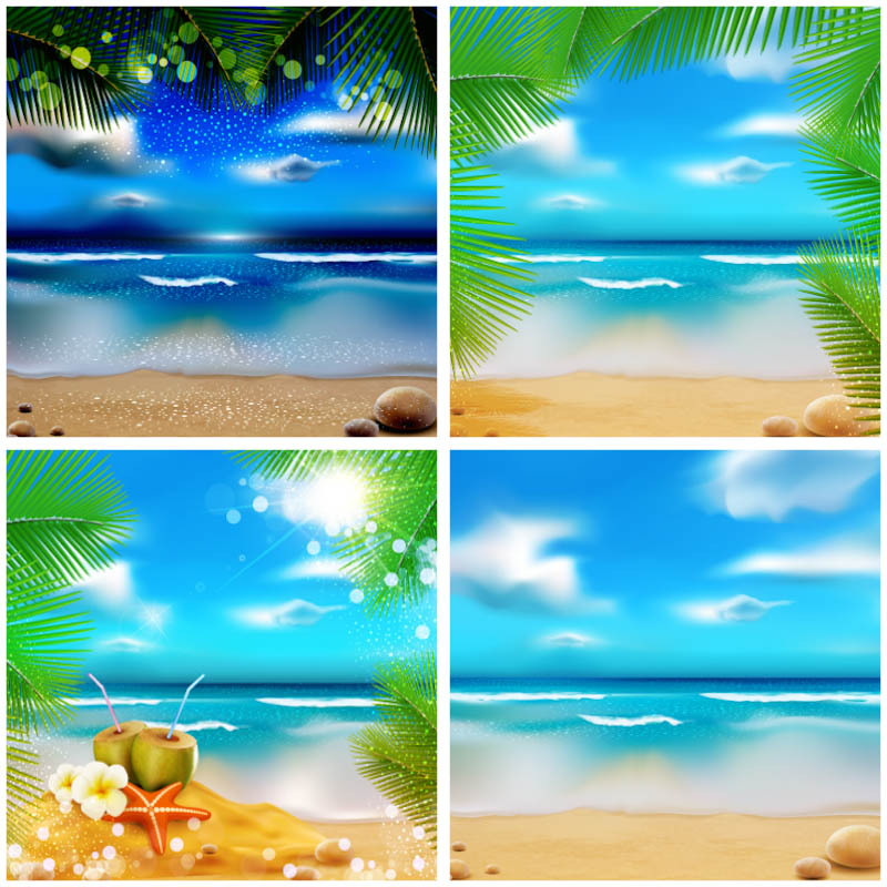 Tropical Beach Backgrounds And Illustrations For Your Summer Vacation