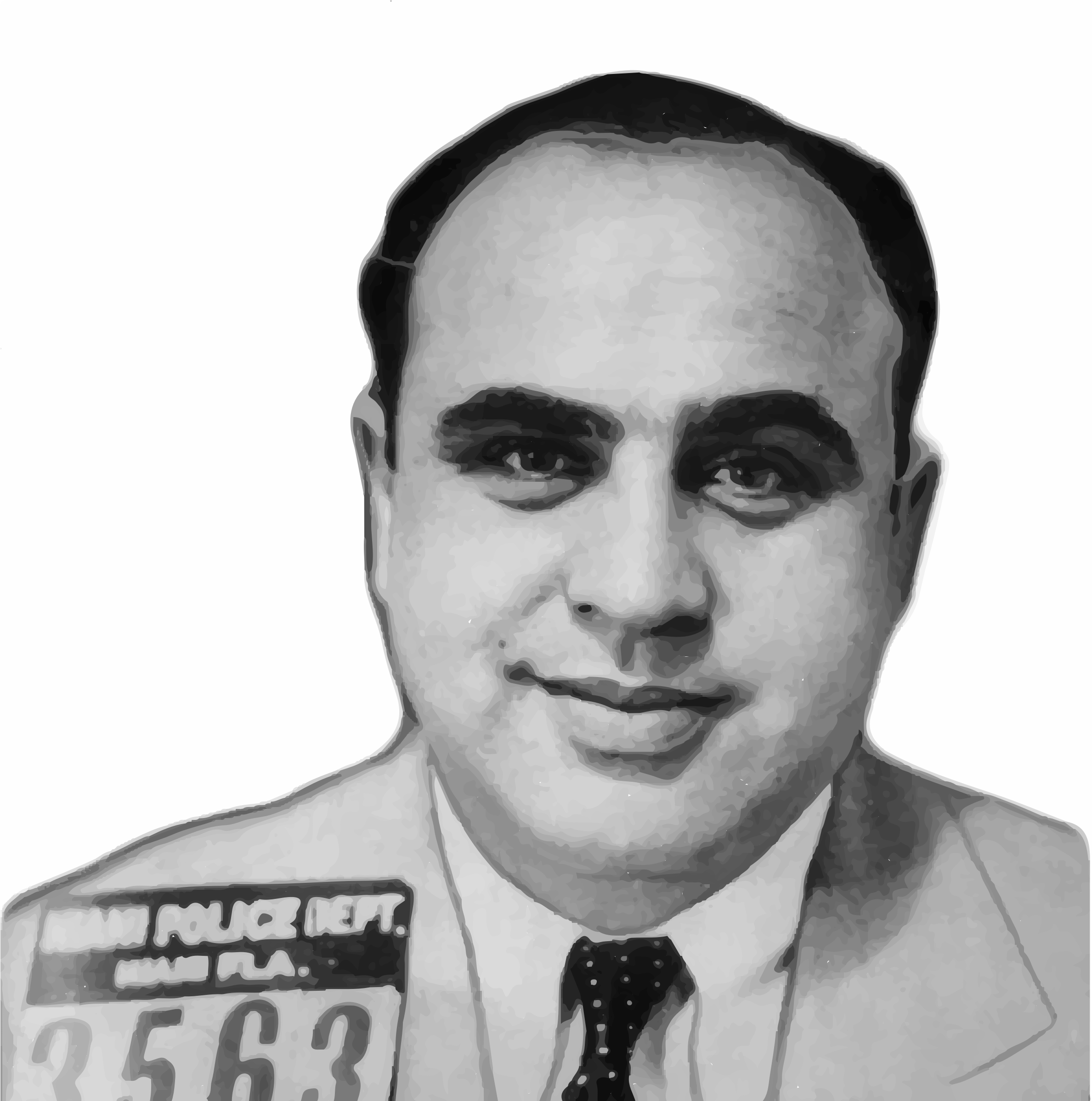 Alphonse Gabriel Capone Mugshot  Background Removed  By Gdj