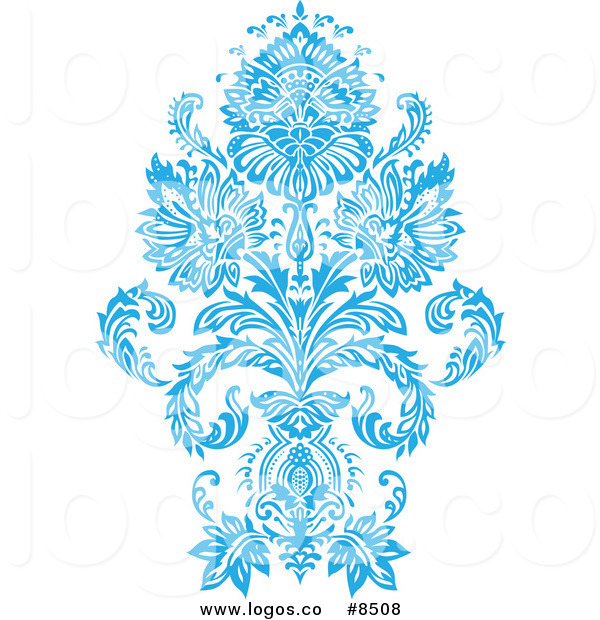 tiffany blue damask clip - photo #4