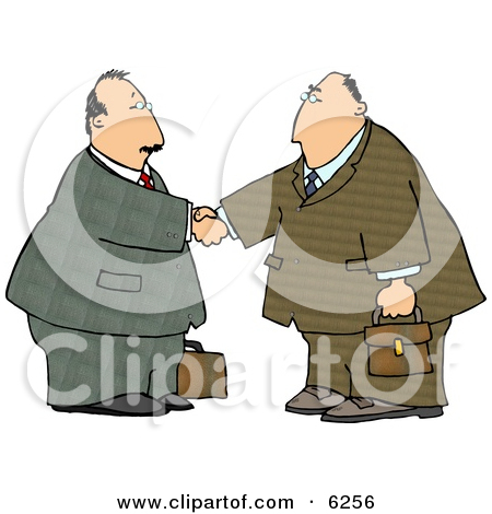 Businessmen Shaking Hands   Royalty Free Clipart Illustration By