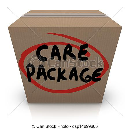 Care Package Cardboard Box Words Support Emergency Aid   Csp14699605
